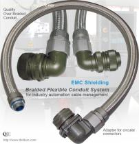 EMc shielded and antistatic braided flexible metallic conduit
