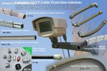 electric Flexible Conduit,connector For CCTV wirings Protection Solution