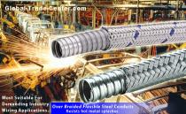 over Braiding Flexible Electric metal Conduit for heavy equipment wirings