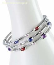 David Yurman inspired jewelryThree-Row Berry Confetti Bracelet