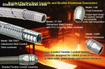 steel Braided Flexible Conduit Systems protect cables from damage by welding spark