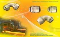 DELIKON Heavy Series Flexible Sheath connector for steel mill cable,HEAVY SERIES over braided flexible conduit