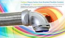 Delikon Heavy Series Over Braided Flexible Conduit and Fittings for steel industry automation cabling solution  Delikon Heavy Series Over Br