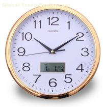 "Lcd Calendar Wall Clock   12""  (No.252)"