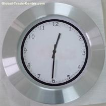 "14"" metal clockaluminium wall clock"