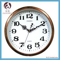12 inches bronzed colour plastic wall clocks