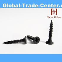Black phosphated drywall screws