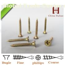 yellow zinc coated drywall screw