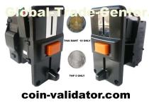 Thai Baht only coin validator Acceptor slot selector