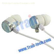 In-ear Earphone Headphone Earbud For iPhone/Mp3|Mp4,Blue with a jewel