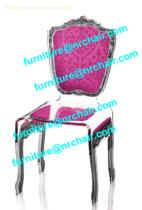 acrylic baroque chair