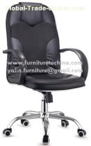 office manager chaiir, swivle lift seat, revolving PU and fabric chair, executive computer furniture