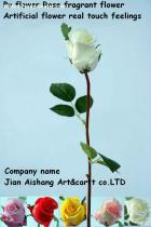 PU Flower rose  fragnant flower Artificial Flower