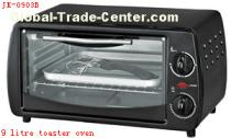 9 litre toaster oven with frying pan on of Chinese origin with CE approval.