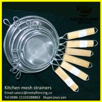 New metal craft cooking wire baskets double mesh fine dumpling sieves stainless steel reinforced bouillon strainers fryer baskets