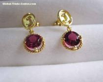 18k white gold ruby earrings,gold jewelry,fine jewelry,gemstone earrigns