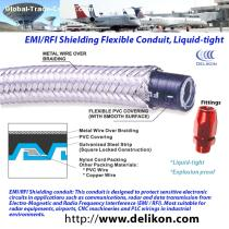 braided liquid tight steel conduit conduit fittings for beverage industry cable protection