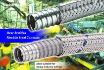 Delikon over braided flexible metal conduit for industry machine wirings,BRAIDED FLEXIBLE CONDUIT