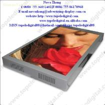 "Support split-screen and roll titles Nice silver color 55"" motion activated lcd vertical touch screen for Shopping mall"