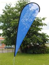Bow flag, portable bow flag, Advertising bow flags, printed bow flags