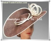 YRSM13093 sinamay hat, cocktail hat,bridal hat,derby hat,race hat,church hat