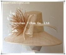YRSM13114 sinamay hat, church hat,occasion hat,wedding hat