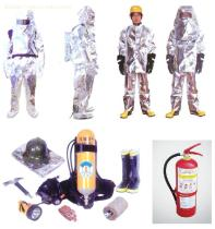 Breathing apparatus,EEBD,fireman outfit, ship IMO sign,fire hose,foam applicator,chemical protective clothing,diving suit