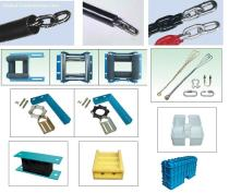 Elevator component:balance compensating chain,damping device, suspension device, guide mechanism, shock absorber & buffer device, escalator