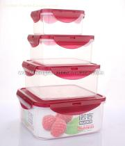 4pcs Square Plastic Crisper Set