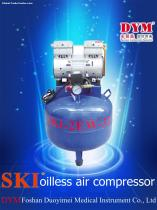 K0011 SKI dental one for two silence oil-free air compressor (32L)  CE
