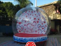xmas inflatable snow globe/inflatable christmas snow globe