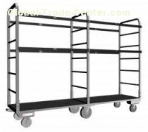 Customized Industrial Storage Rack With 6 Castors For Material Handling