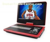12V Red Small MP4 PAL 9 Inch Portable DVD Player with Game USB TV SD