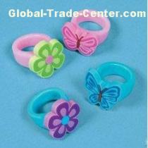 Emboss And Deboss Silicone Finger Ring With Special Shine Effect in Surface