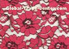 OEM / OMD Red Elastic Brushed Lace Fabric with 135cm Width CY-LQ0001