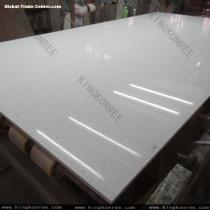 KKR crystal white quartz stone slabs wall panel