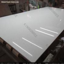 KKR crystal white quartz stone slabs for wall panel