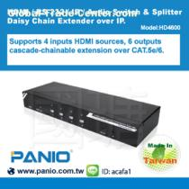 4 x 6 Ports HDMI / RS-232 / IR / Audio Switch & Splitter Daisy Chain Extender over IP