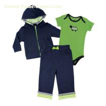 Yoga Sprout Hoodie,Bodysuit,And Pants Set #90040