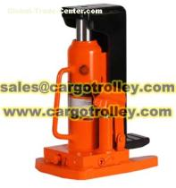 Hydraulic toe jack application and price list