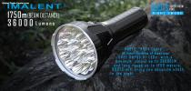 R90TS  Imalent LED flashlight with the longest beamdistance 1750meters  and 36000lumens