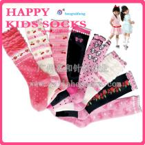 Custom Wholesale Knee High Girls Flower Socks