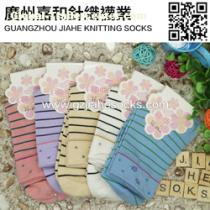 Popular Colorful Striped Women Socks Customized Socks Factory