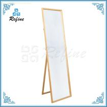 Home decoration eco-friendly standing mirror wooden furniture