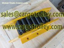 Moving roller skids can be more than 1000 tons