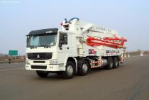 37m truck-mounted concrete pump ISUZU chassis