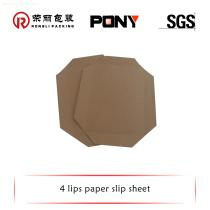 Compact Brown Kraft Paper Slip Sheet for push and pull Machine