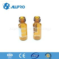 8mm Amber Screw Top Vials with Writing Patch
