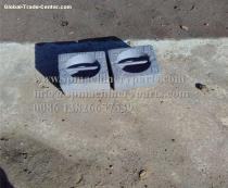 China Manufacturer Supply Boat Parts and Marine Equipment Iron Cast  Blocks 20KG with black painted