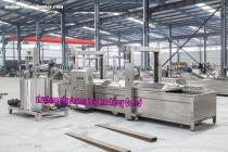 Large frying line working principle  continuous potato chips frying equipment